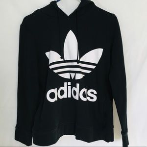 Adidas Black Cotton Hoodie Size 10